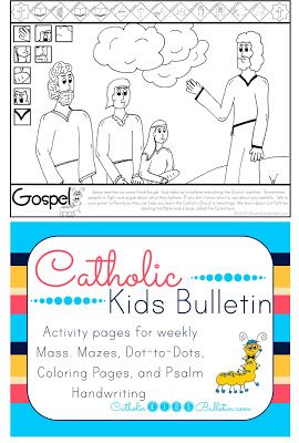 Catholic Kids Bulletin Coloring Page Luke 12.49-53 **FREE** Catholic Kids…