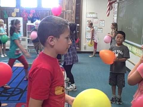 Dalcroze Eurythmics: Whole Note Balloons with Partners. Love this idea.
