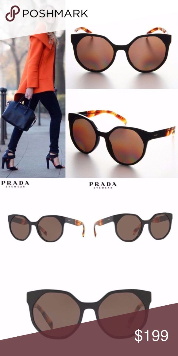 NWT Womens PRADA Fashion Sunglasses 0PR11TS Brown 100% AUTHENTIC Genuine & Brand-NEW PRADA Sun Glasses Newest Model Release  This glamorous irregular sun shape features juxtapositions of exclusive striped Prada Havana's and rich catwalk inspired tones, with medium-wide temples and a contemporary interpretation of the signature Prada triangle, which is set into the frontal using a state of the art layered glue-inset technique  Size 5519-140 RX: Yes  Comes with all Retail Original Packaging…