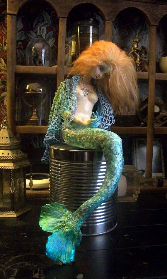 Neptuna. Mermaid Art Doll.
