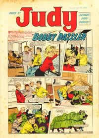 'Judy'. Sister comic to 'Bunty', we were suckers for a free plastic bangle.....