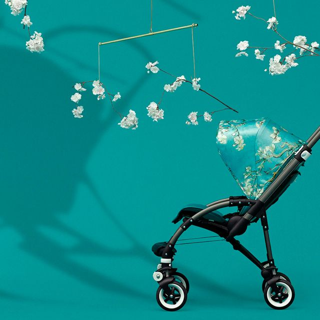 Bring on the sun! Bugaboo + Van Gogh has released the perfect stroller for Summer. Satiny fabric finish, green frame, and fun florals make this one a true stand-out. Even more pieces available in this collection, including a Van Gogh Breezy Sun Canopy and more! #bugaboovangogh