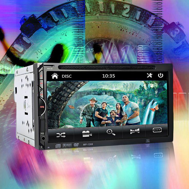 2 Din Car Video Player DVD 7 ''HD Touch Screen Bluetooth Stereo Radio Audio Mobil Auto Elektronik Dukungan Rear View kamera