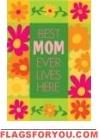 Applique - Best Mom Ever Garden Flag