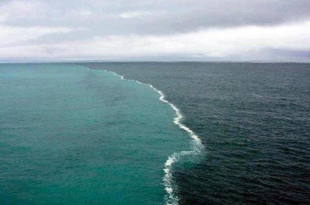 Where two oceans meet, but do not mix.