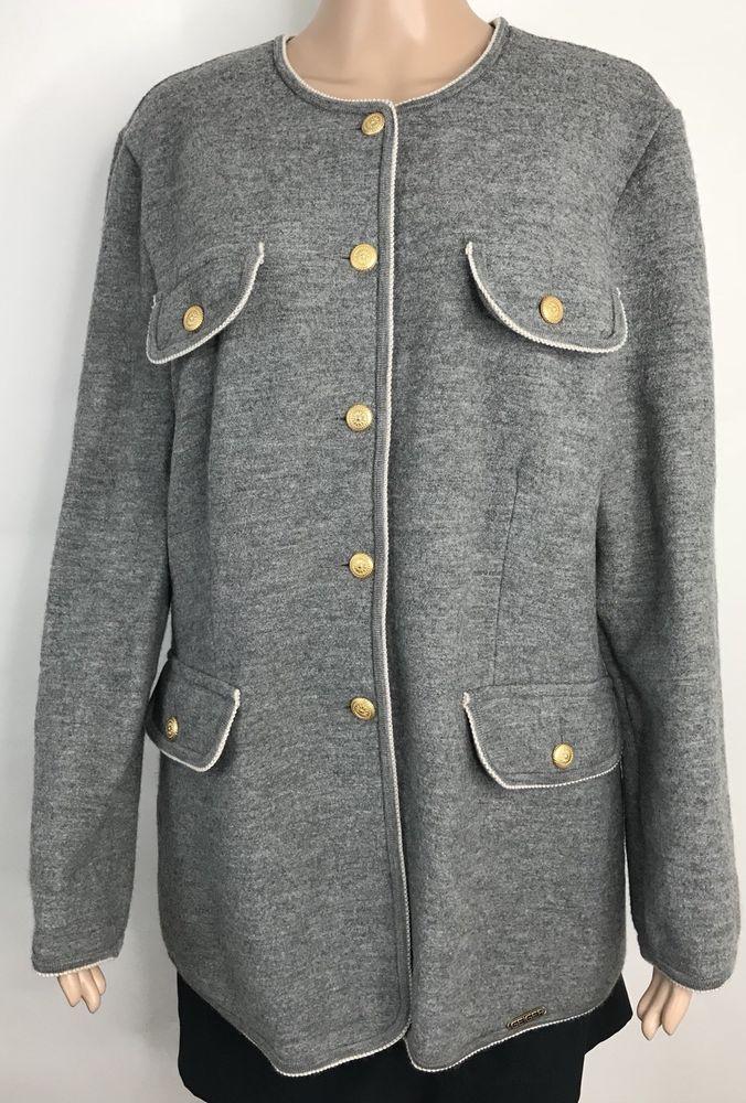 Geiger Collection Austria Women's Blazer Pockets Gray 100% Wool Size 40 #Geiger #Blazer #woolblazer #jacket #drivingJacket #womens #wmensfashion #style #selling #forsale #ebay #ebayfashion #ebayclothing #shopping #deals #buyitnow #bestoffersaccepted
