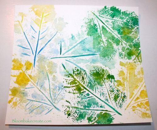 Watercolor Leaf Printing