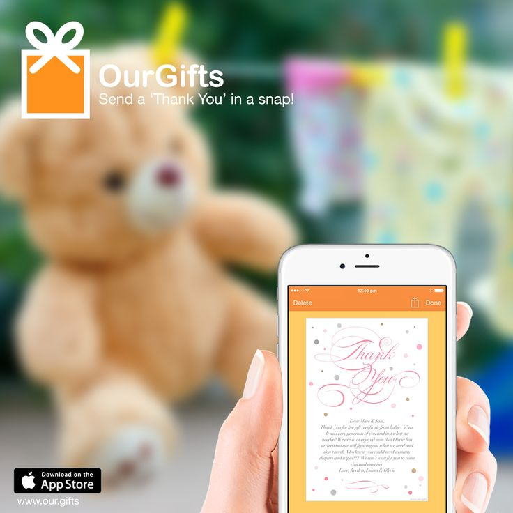 OurGifts app makes it easy to track all your baby shower gifts.  Free to download!