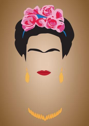 Poster Frida Kahlo Minimalista Pôster Marrom..                                                                                                                                                                                 More