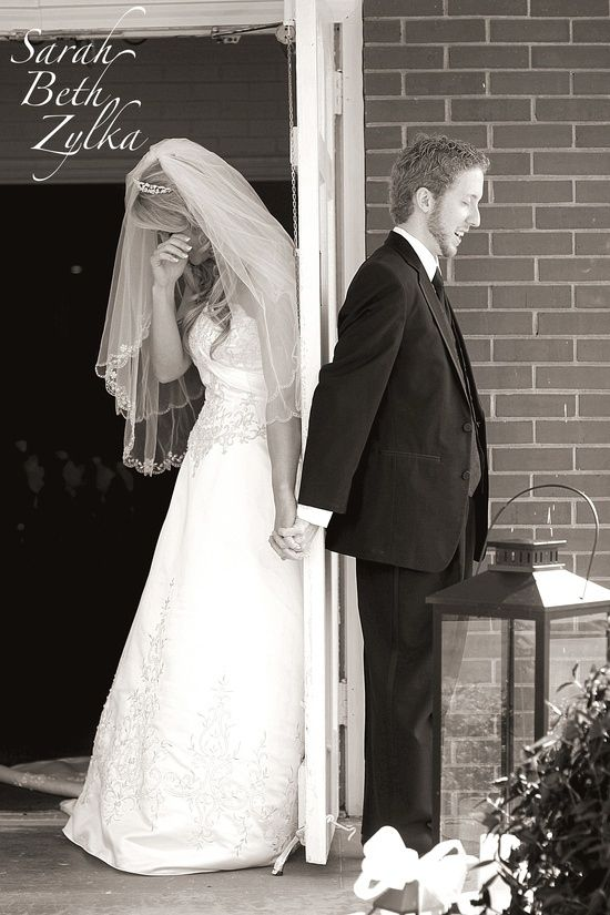 Bride and groom praying together before their wedding, without seeing each other.