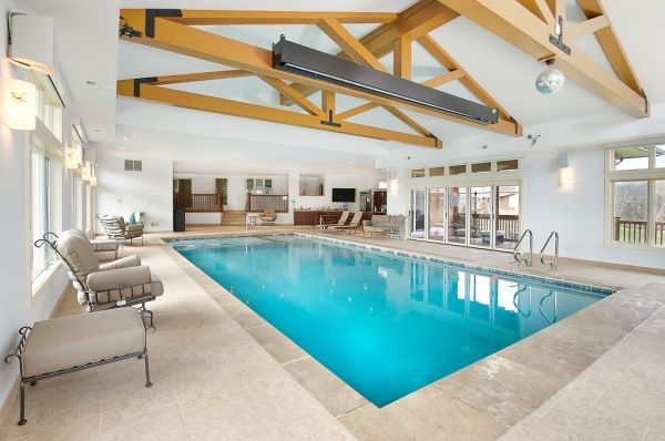 Trout valley il indoor swimming pool and spa work by for Indoor pool construction