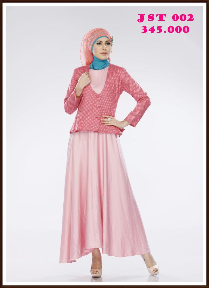 Untuk pinky lovers wajib punya gamis jas yang kece banget nih,, pasti penampilanmu tambah cantik ditambah dengan hijab kreasimu,, Order now