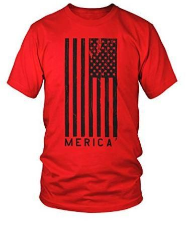 """""""Merica"""" T-Shirt with Large American Flag"""