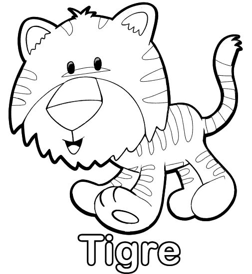 Dibujo para colorear - Tigre - ColorearColorear.net | KIDS ...