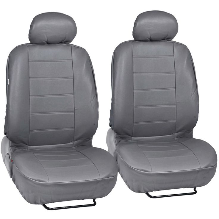 BDK Synthetic Leather Car Seat Covers Front Pair Set of 2 - Premium Leatherette (3 Color)