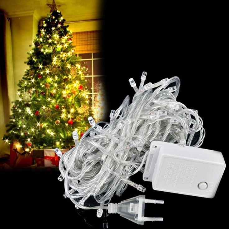 ЕС Plug 10 М Рождественская Елка Украшения СВЕТОДИОДНЫЕ Фонари Новый Год Рождество Партия Мерцание Строка Рождественские Украшения Для Дома R20