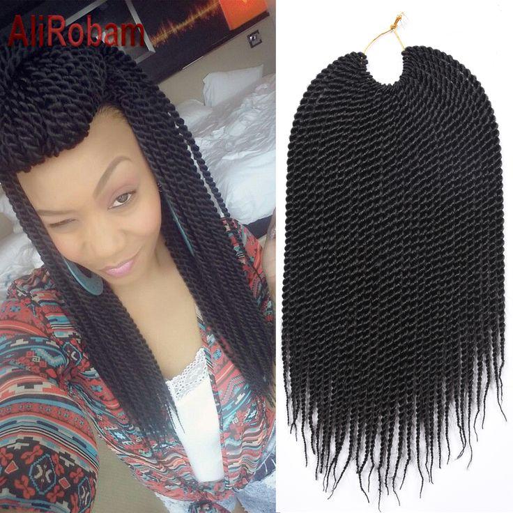14 Pouces 30 Racines/Pack Ombre Noir Bug Havana Mambo Twist Crochet Tresses Cheveux Moins Cher Crochet Tresse Cheveux Sénégalais Twist 60g