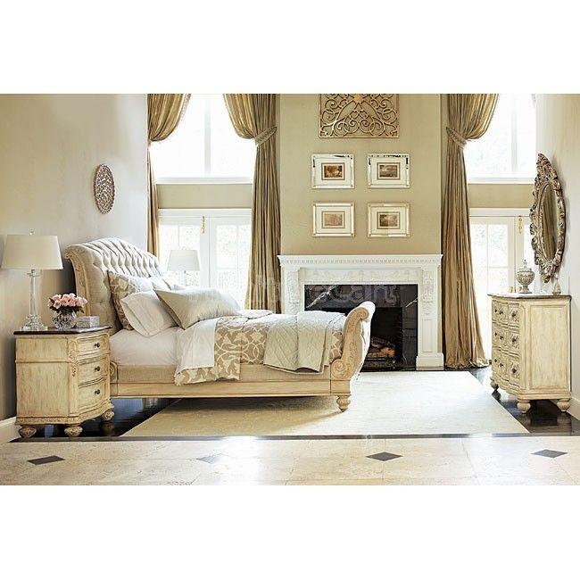 Jessica McClintock The Boutique Sleigh Bedroom Set (White Veil)