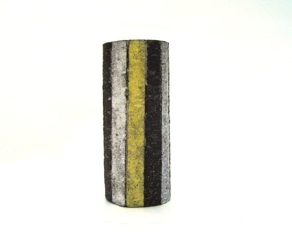 Fifties Westraven chanoir vase model H 74 striped