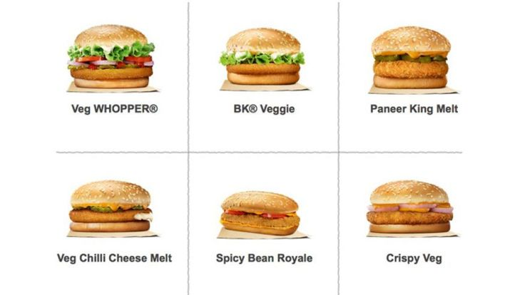 Burger Kings may be expanding its menu to include items from India's vegetarian menu!