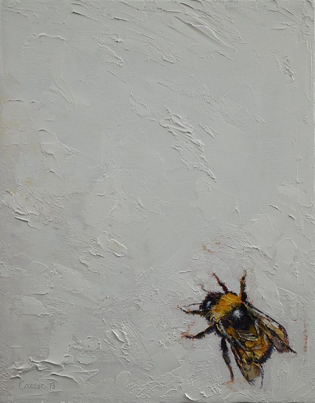 BUMBLEBEE 11x14 Original Bumble Bee Art Oil Painting by Michael Creese. $125.00, via Etsy.