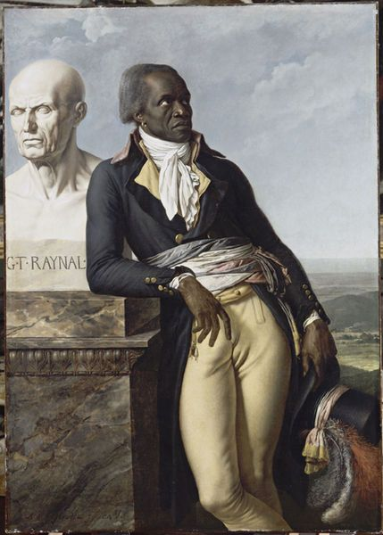 Jean-Baptiste Belley with the bust of the philosopher Raynal, portrait by Girodet, 1798.
