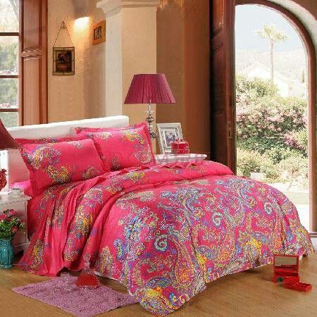 Bohemian style bed linen
