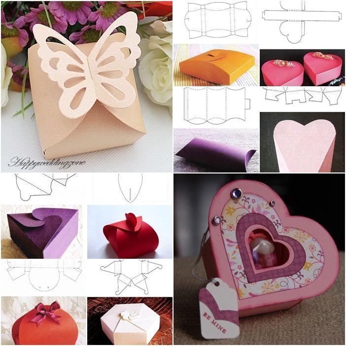 10  Beautiful DIY Patterns of Candy Gift Box