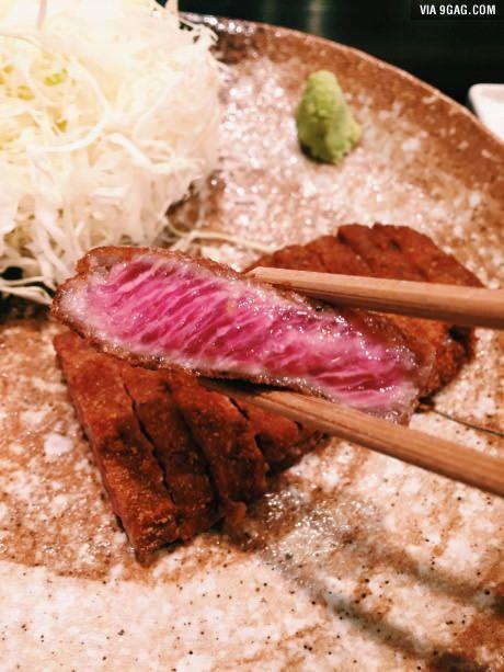 Steak Katsu from Gyukatsu Motomura in Shibuya, Tokyo, Japan