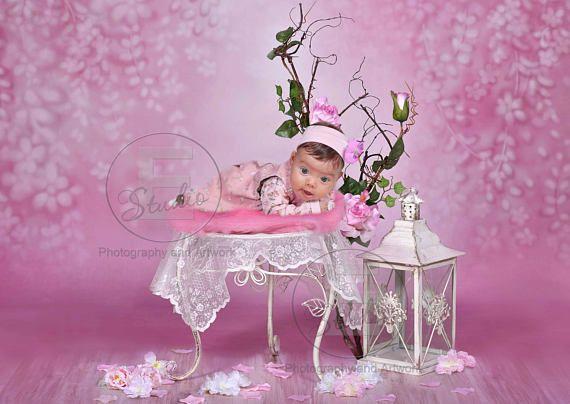 Pink Digital Backdrop Flower Baby Background Newborn Photo Etsy In 2021 Digital Backdrops Digital Photography Backdrops Pink Flowers Background
