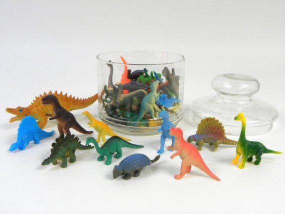 RESERVED for niTeBecOmEsdAy  35 Plastic Dinosaurs by CathodeBlue