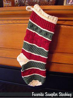 Favorite Sampler Stocking | Ravelry