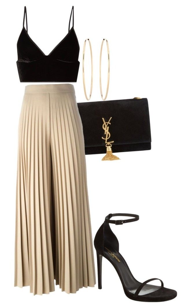 """""""Untitled #1944"""" by fashionistaannie ❤ liked on Polyvore featuring Yves Saint Laurent, Givenchy, T By Alexander Wang and Loren Stewart"""