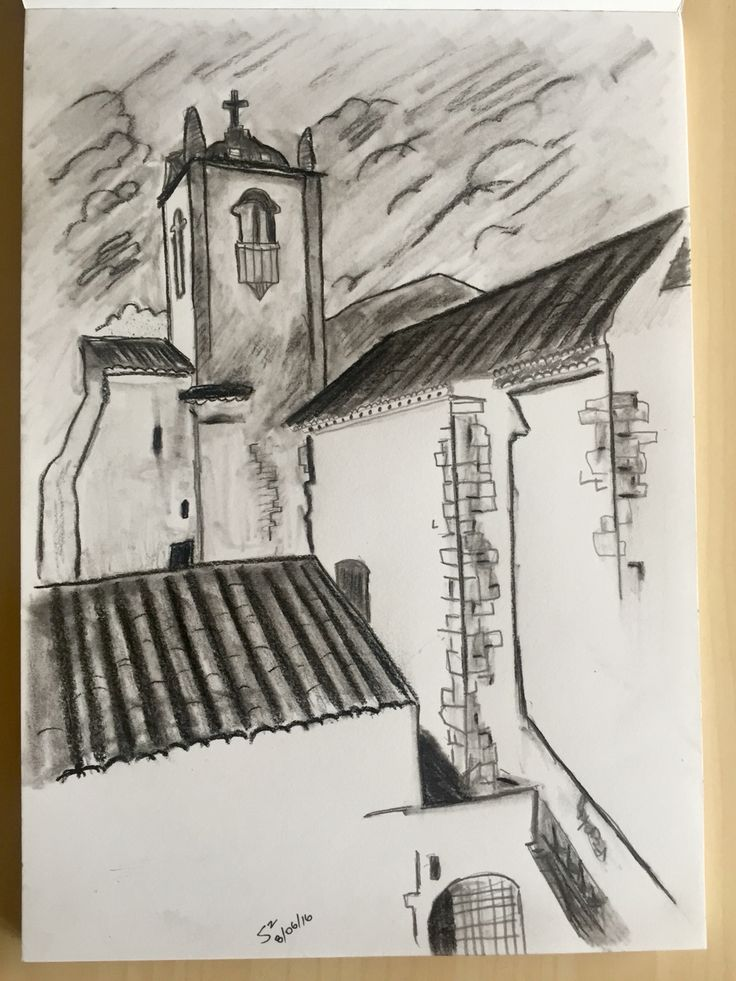S. Scobie. 8x10. Charcoal and pencil. Faro, Portugal. June 2016