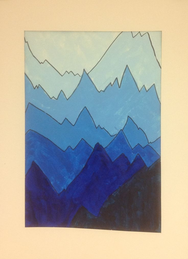 Value In Visual Arts : Monochromatic landscape color value tints shades teach