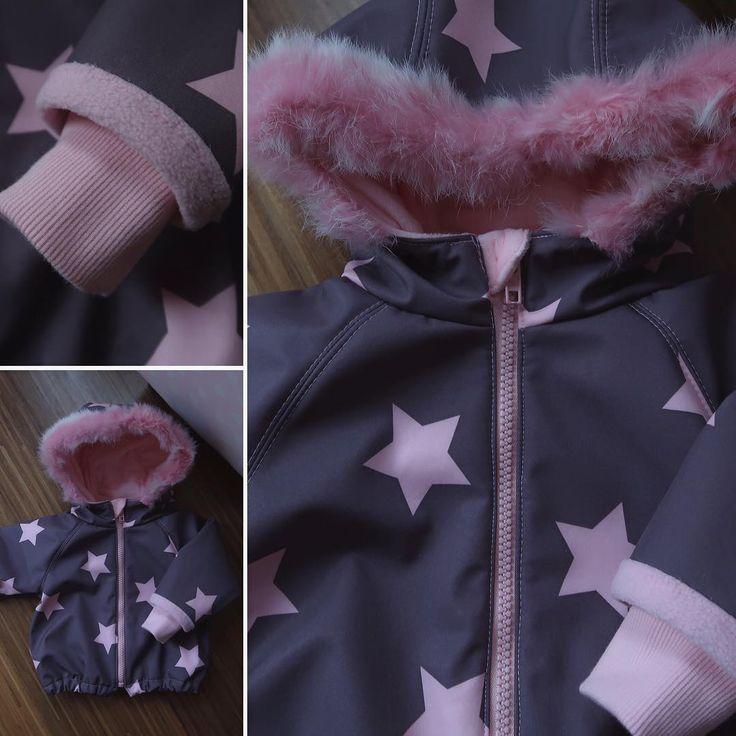 Stoff von Farbklecks Collection, Schnitt von Makerist....und ich habe es genäht....Baby-Winterjacke für meine Enkelin!