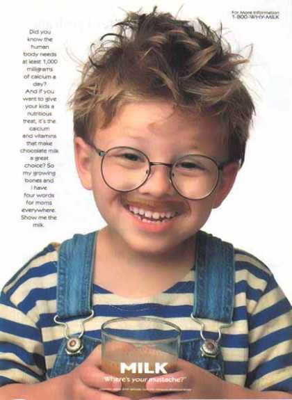 "Pin for Later: The Most '90s-tastic Got Milk? Ads  After melting hearts in 1996's Jerry Maguire, actor Jonathan Lipnicki looked adorable in a ""Got Milk?"" ad."
