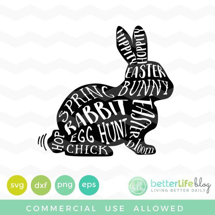 Ultimate Spring Svg Bundle Bunny Silhouette Happy Easter Bunny Easter Svg Files