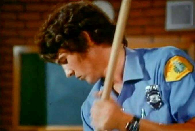Johnny, mopping.