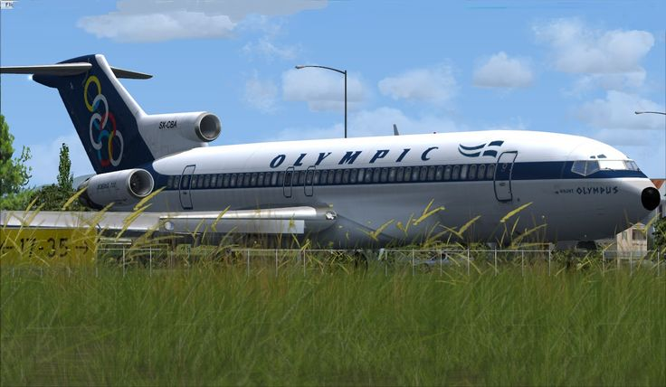 Olympic Airways Boeing 727-284 SX-CBA mount Olympus in Corfu airport
