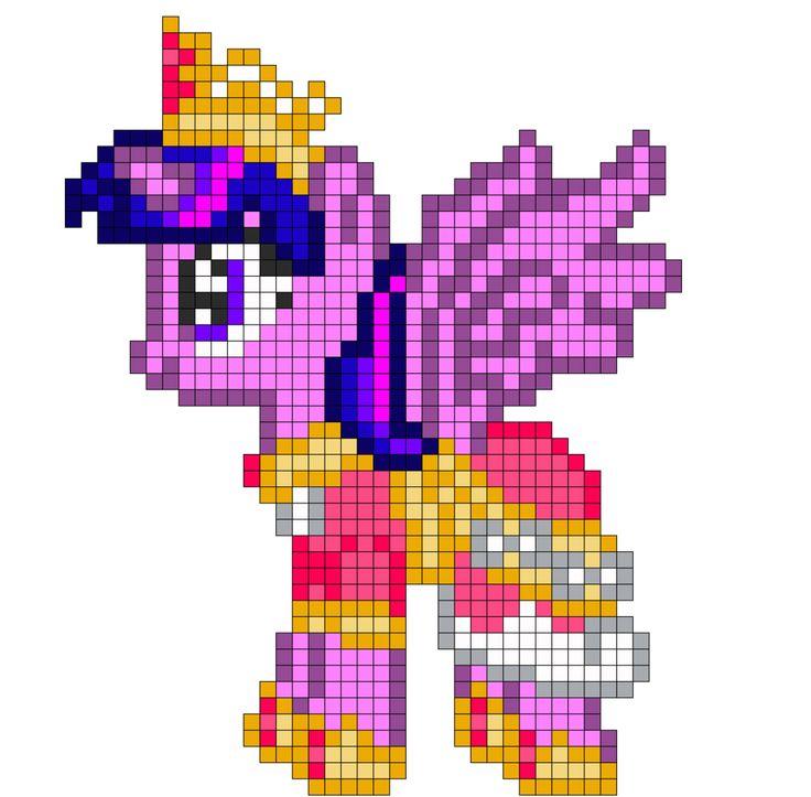 MLP Alicorn Twilight perler bead pattern by indidolph on deviantART