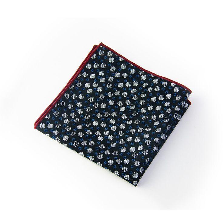 Mens Cotton Pocket Square - ASSEMBLAGE COTTON SQUARE by VIDA VIDA QzcFDsKob