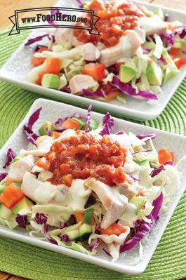 Fish Taco Salad | Food Hero - Healthy Recipes for fish taco salad. Everyone will love this recipe!