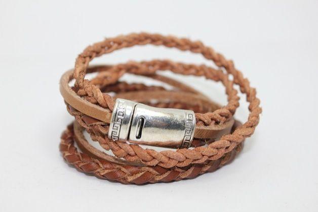 Wickelarmband aus Bio-Leder