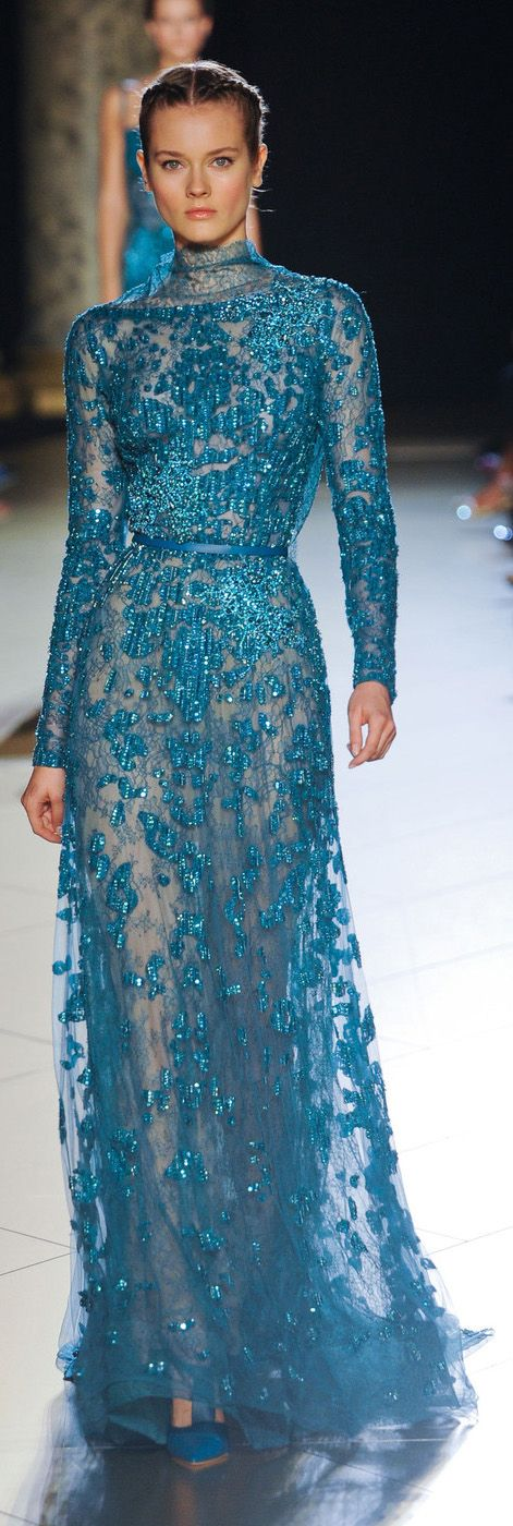 Amazing...Elie Saab Couture Fall 2012 - all I need now is a life to wear this dress where it would be appropriate...