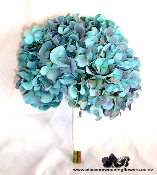 blue-hydrangea-wedding-flowers by Blossom Wedding Flowers, via Flickr