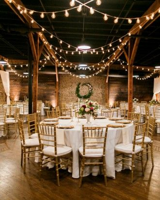 Restored Warehouses Where You Can Tie the Knot - Houston Station, originally home to the American Syrup Company, a manufacturer of jams, jellies, and syrups, in 1895, is a space that marries Southern rustic with urban glam.