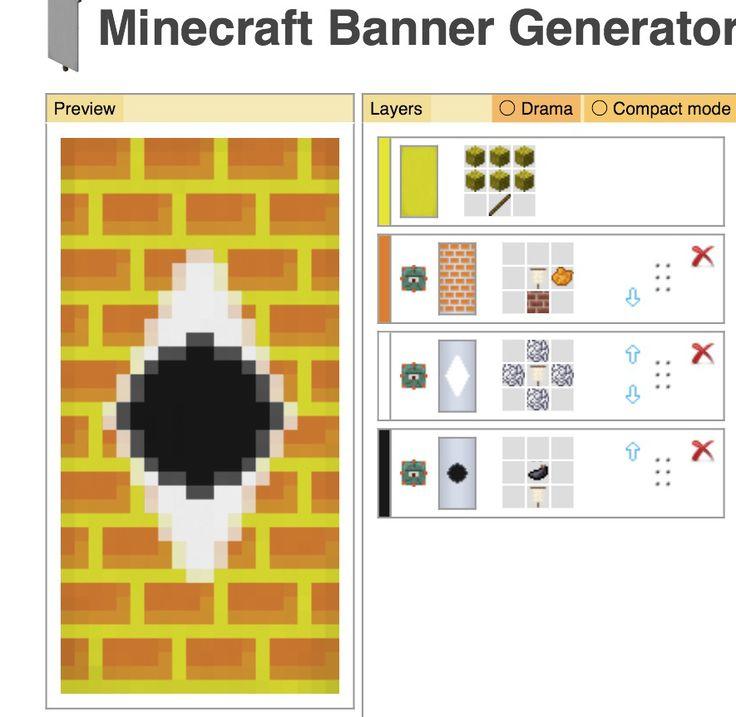 Bill cypher minecraft banner design minecraft for Minecraft blueprint maker
