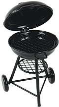 "Dollhouse Miniature Charcoal Grill by Aztec Imports, Inc.. $16.95. Metal with lid that closes and grilling grate. 2""W x 3 3/8""H x 2 1/4""D"