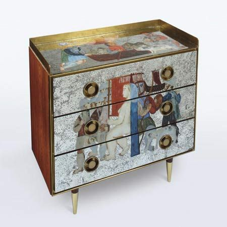 Chest of Drawers by Design. Gio Ponti, in collaboration with Edina Altara
